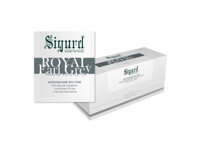 Чай черный в пакетиках для чашки Sigurd Royal Earl Grey (Сигурд Королевский Эрл Грей), 30шт.*2г.